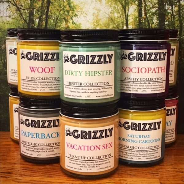 Grizzly Mini's 12 Pack Soy Candles